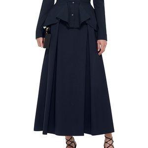 Zac Posen A-line navy light wool skirt